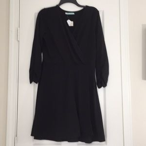 Maurices black ribbed dress medium nwt
